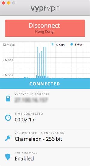 VyprVPN Review: Vypr VPN desktop software.