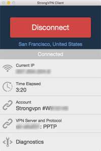 StrongVPN review: desktop client