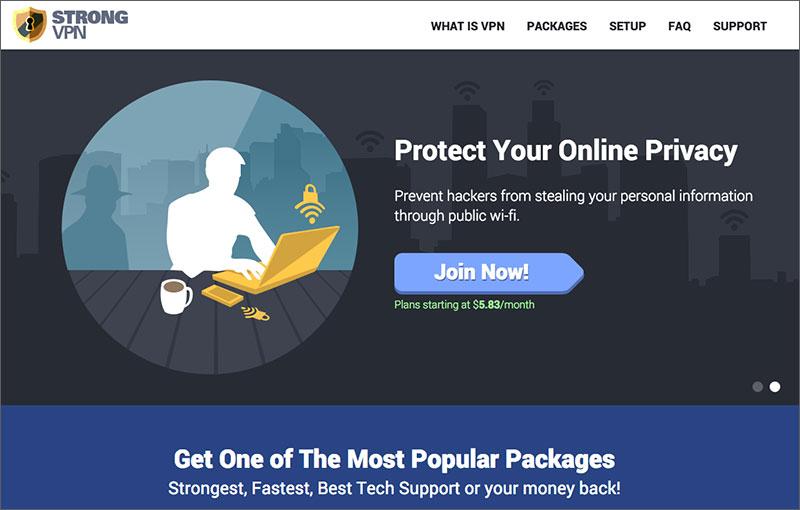 StrongVPN Website