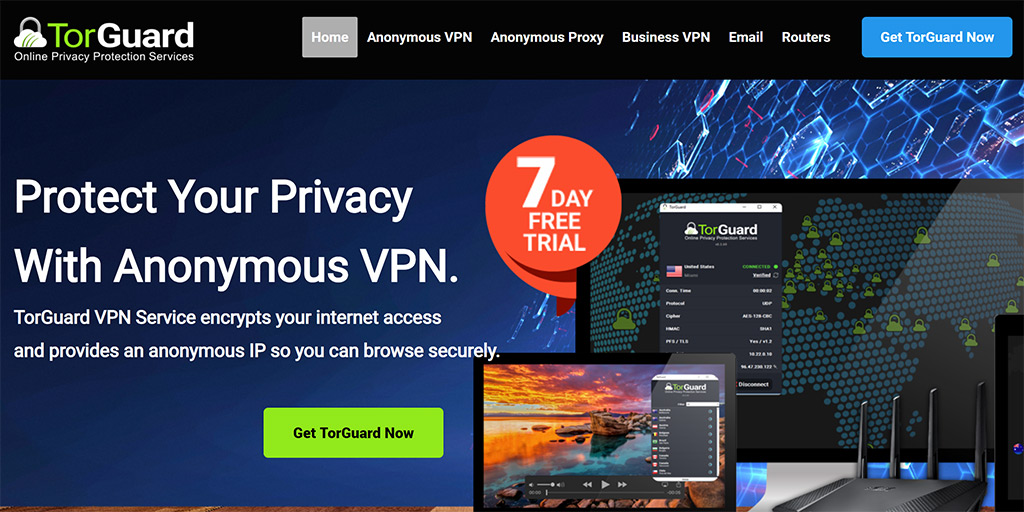 TorGuard VPN review: torguard website