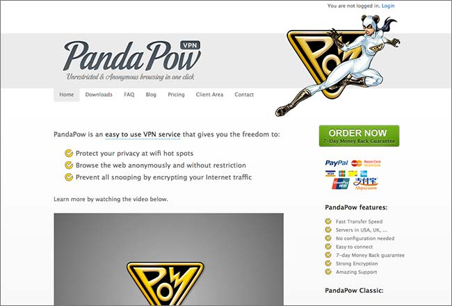 PandaPow Website
