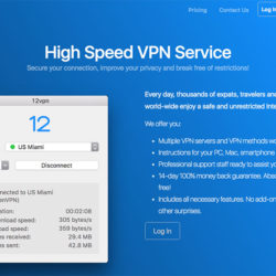 12VPN review: 12VPN website