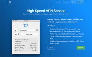 12VPN review: 12VPN website