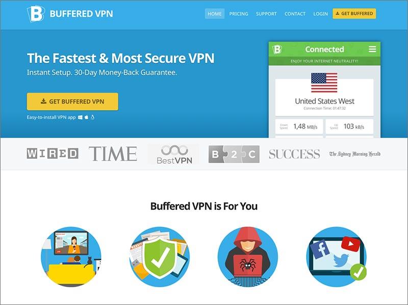 Buffered VPN: Website