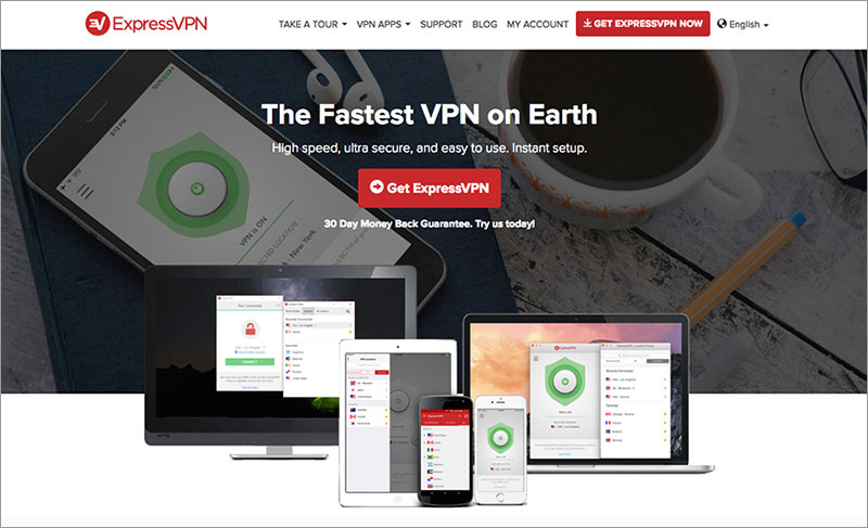 ExpressVPN review: Express VPN website.