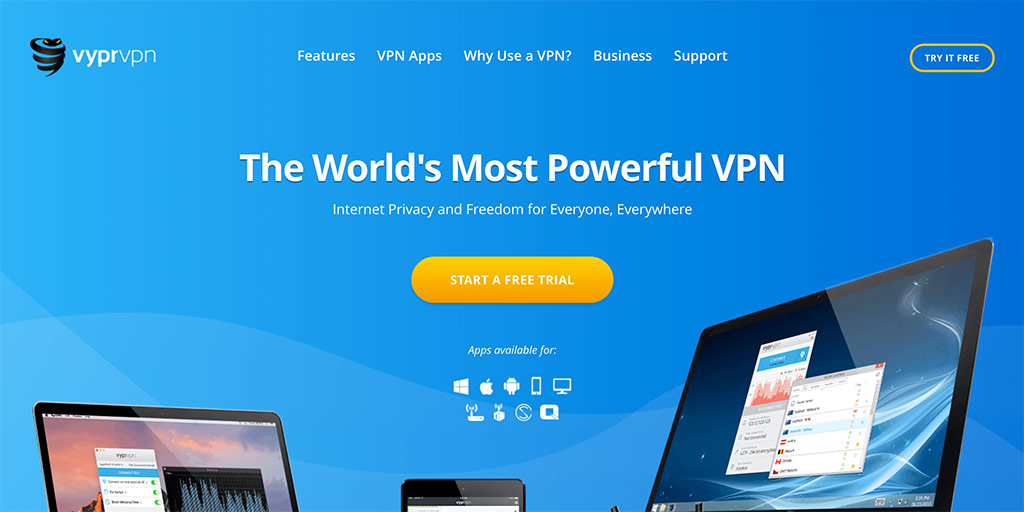 Best Hong Kong VPNs: VyprVPN website