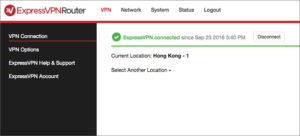 ExpressVPN Router Admin Page