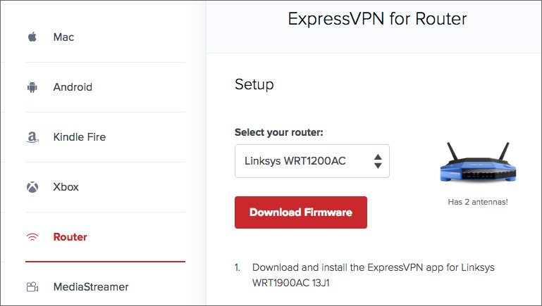 ExpressVPN router download firmware