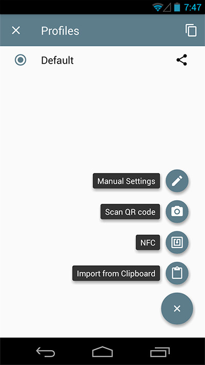 Shadowsocks Android App: Setting