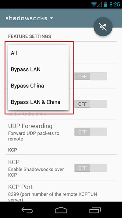 application shadowsocks