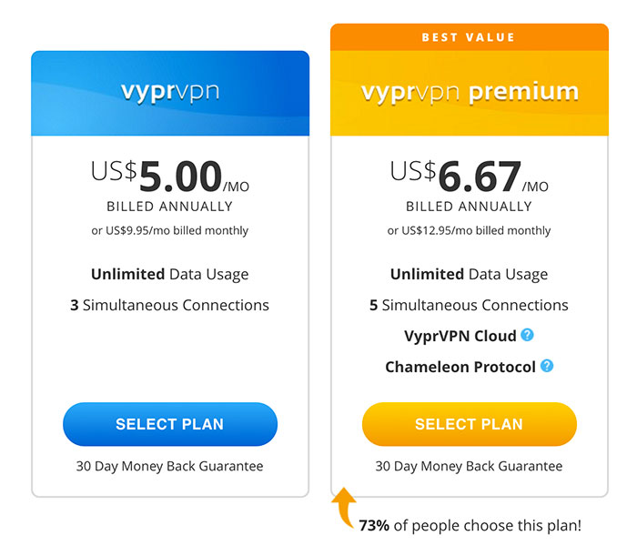VyprVPN Review: VyprVPN price