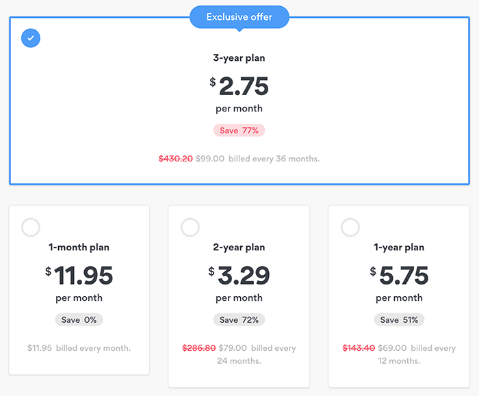 NordVPN pricing and discounts